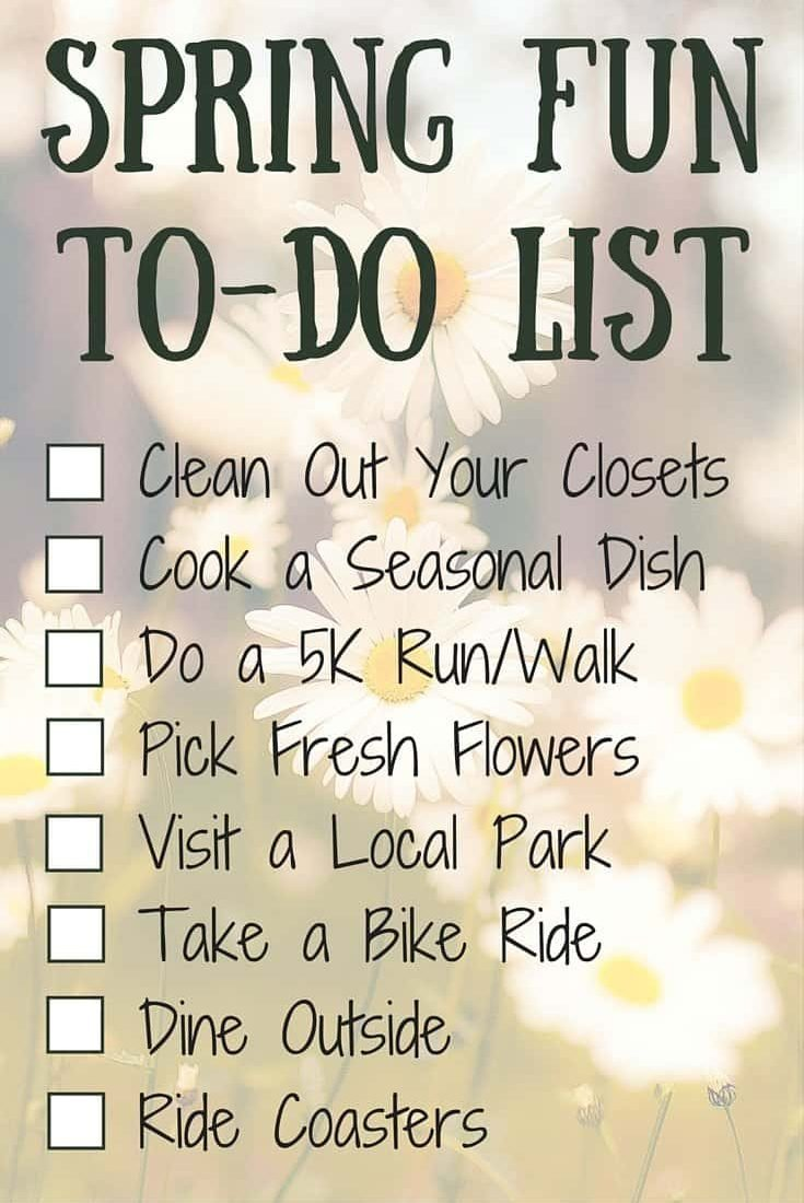 Spring Fun To-Do List