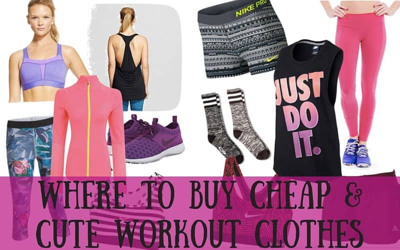 Where to Buy Cheap & Cute Workout Clothes