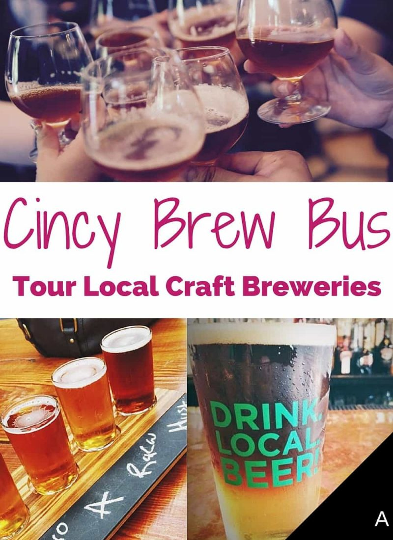 Tour local craft breweries with Cincy Brew Bus and your group of friends. Try new beers and go behind the scenes at your favorite breweries. This tour is a must for any craft beer fan. Check out my review at the link.