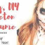 Easy Skeleton Makeup for Halloween