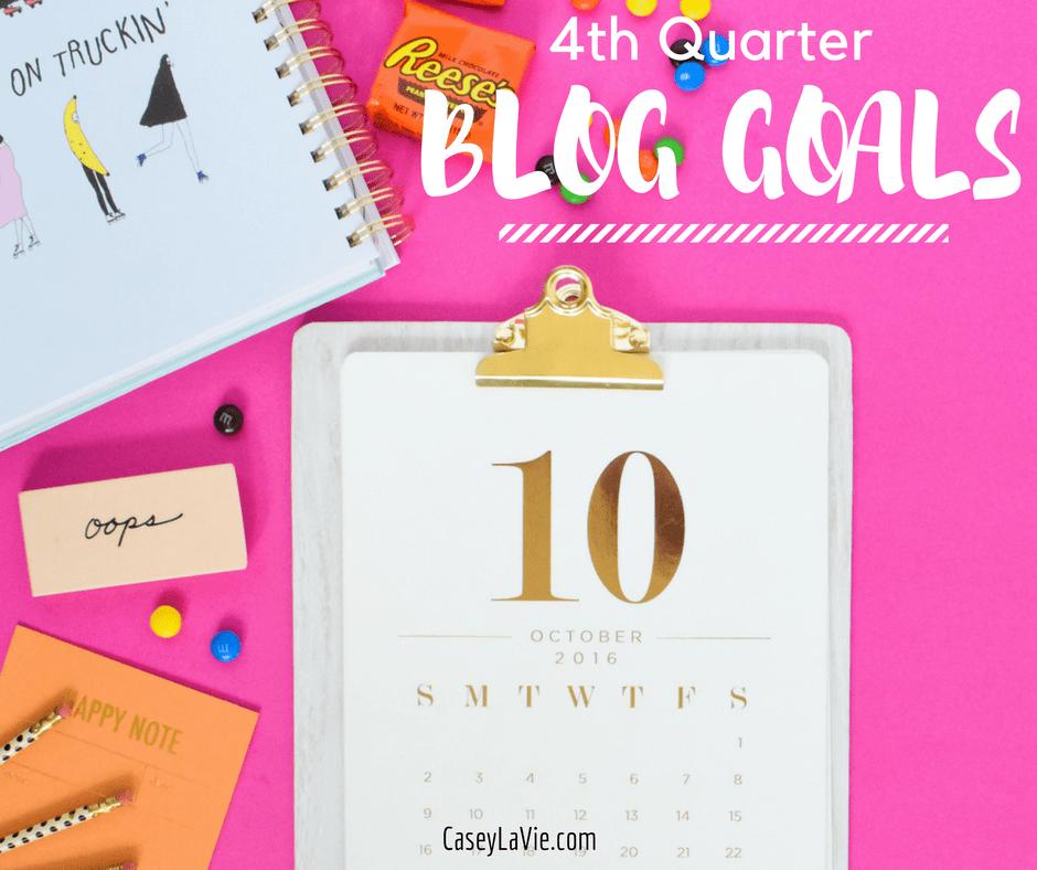 Blog Goals for 2016
