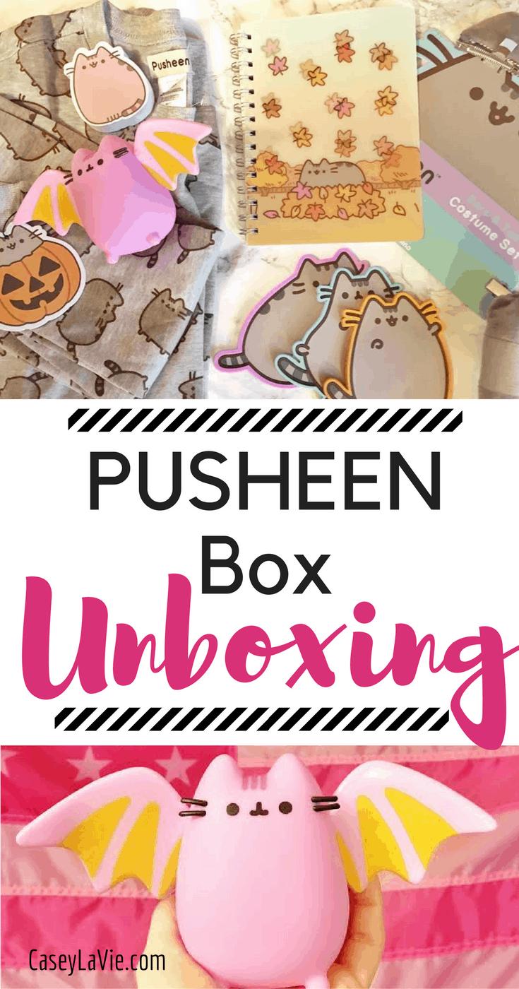 Pusheen Box Unboxing Fall Edition Casey La Vie