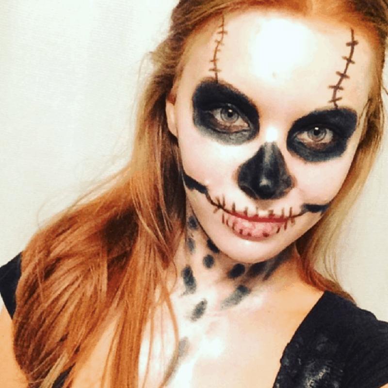 Easy, DIY Skeleton Makeup