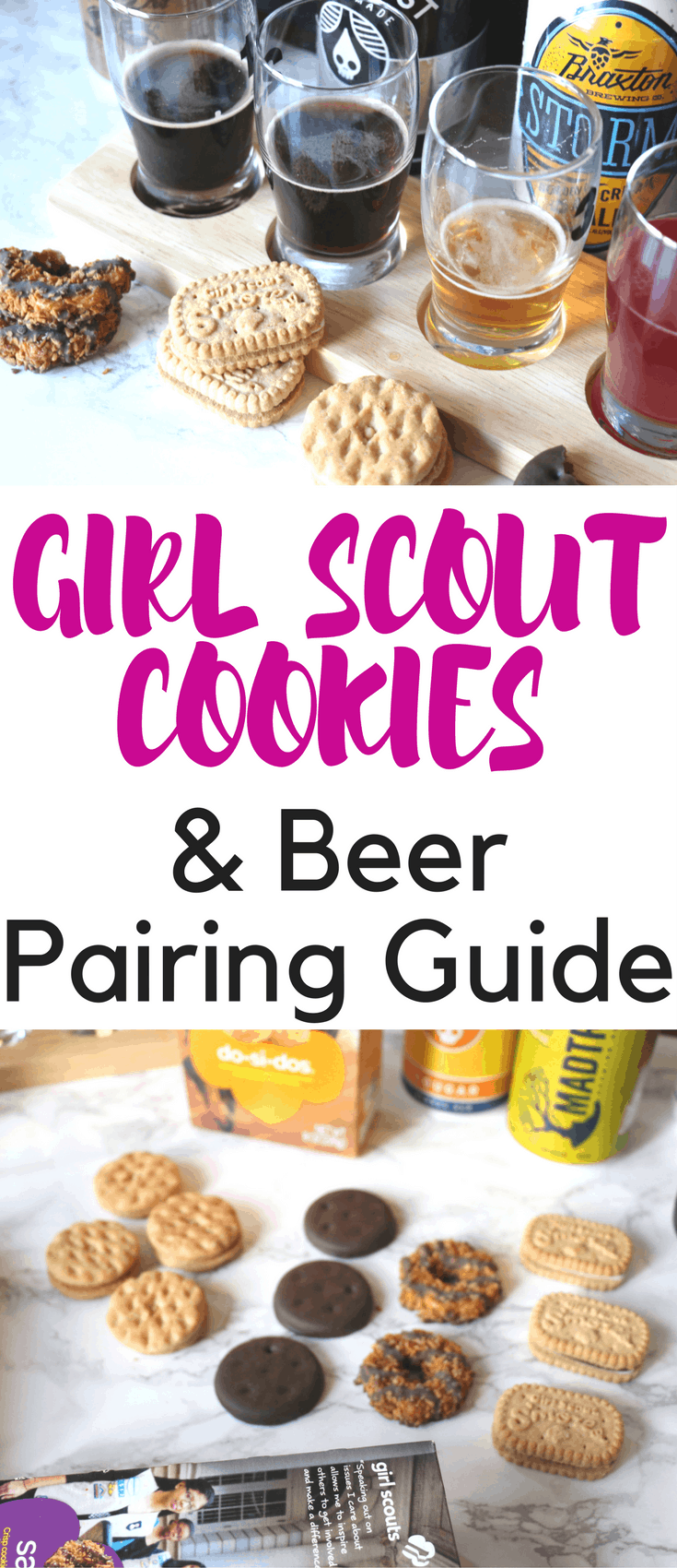girl scout cookies and beer pairing guide   casey la vie
