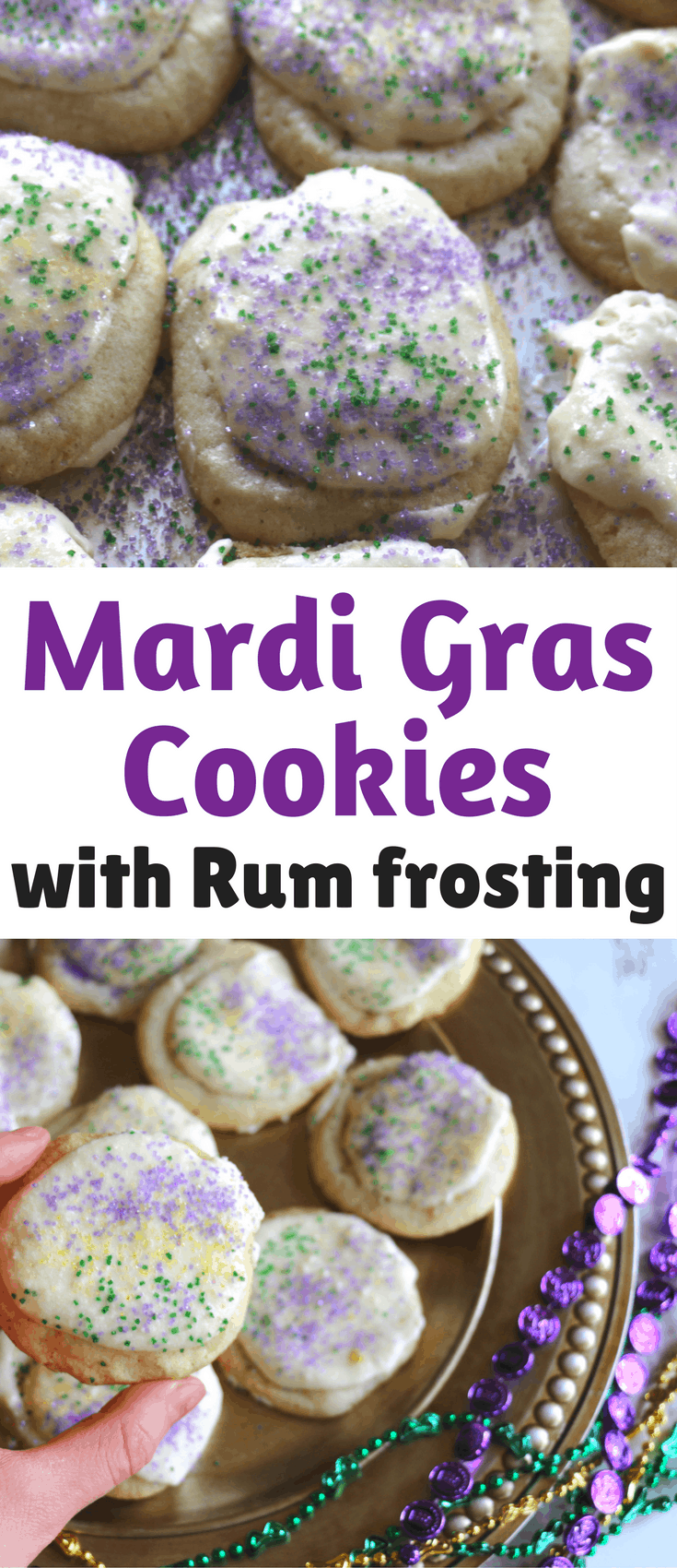 Mardi gras cookies with rum frosting casey la vie this easy mardi gras cookies with rum frosting recipe is inspired by king cakes forumfinder Choice Image