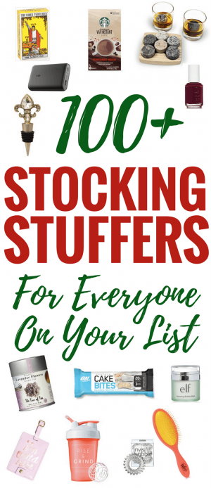 Over 100 Stocking Stuffers for Everyone. These stocking stuffer ideas are for men, women, teens, boyfriends, mom, and adults, plus many are cheap.