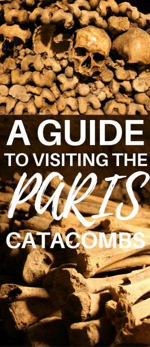 Go off the beaten path of a regular Paris travel guide with a visit to the Catacombs. This guide gives you all the details on the Catacombs tour, like how to skip the line, find the entrance and enjoy an audio guide. It's a cheap and must-see part of Paris.