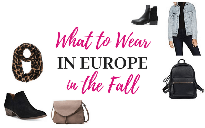 What to Pack for Europe in the Fall