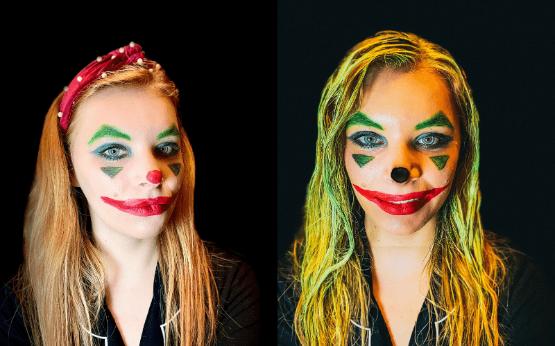Easy Joker Halloween Makeup Look